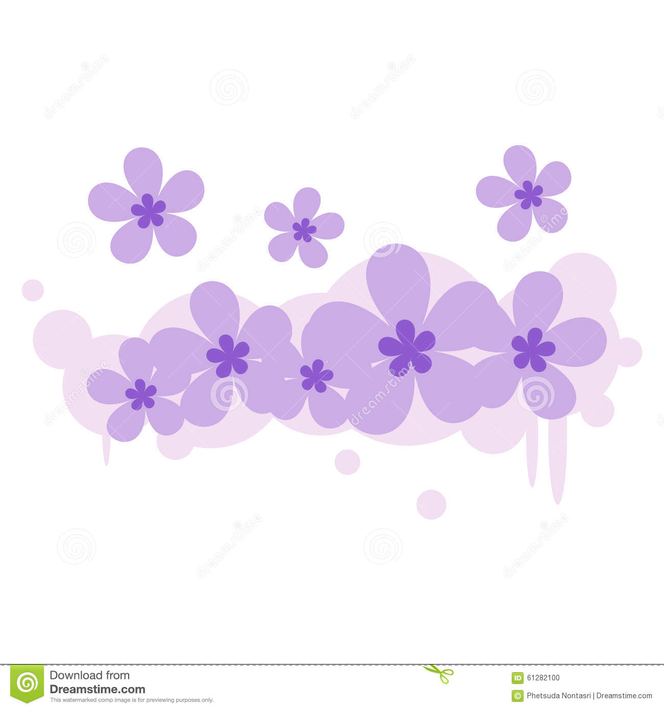 Flower Floral Fabric Background Illustration Design