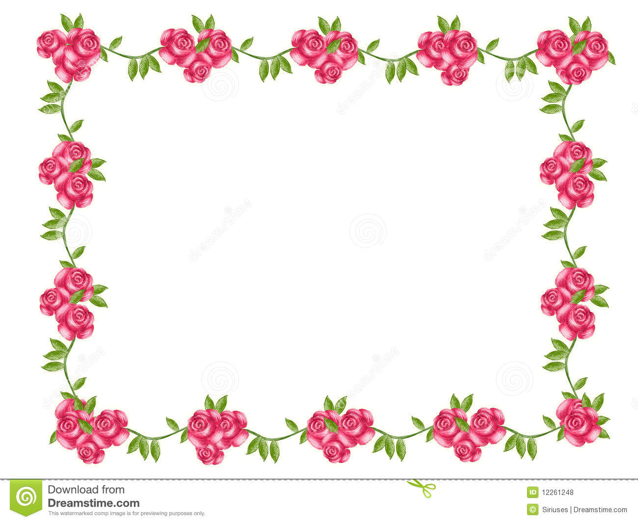 Flower frame stock illustration. Illustration of love - 12261248
