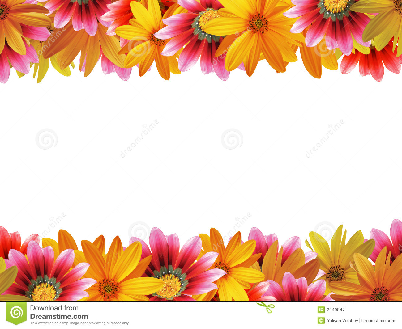 flower frame 2 royalty free stock photography