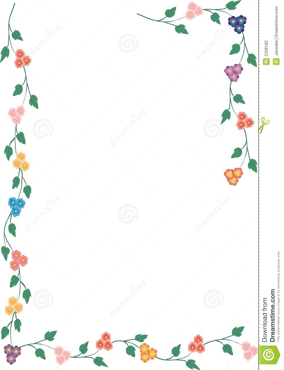 Flower Frame Stock Photography  Image: 2208182