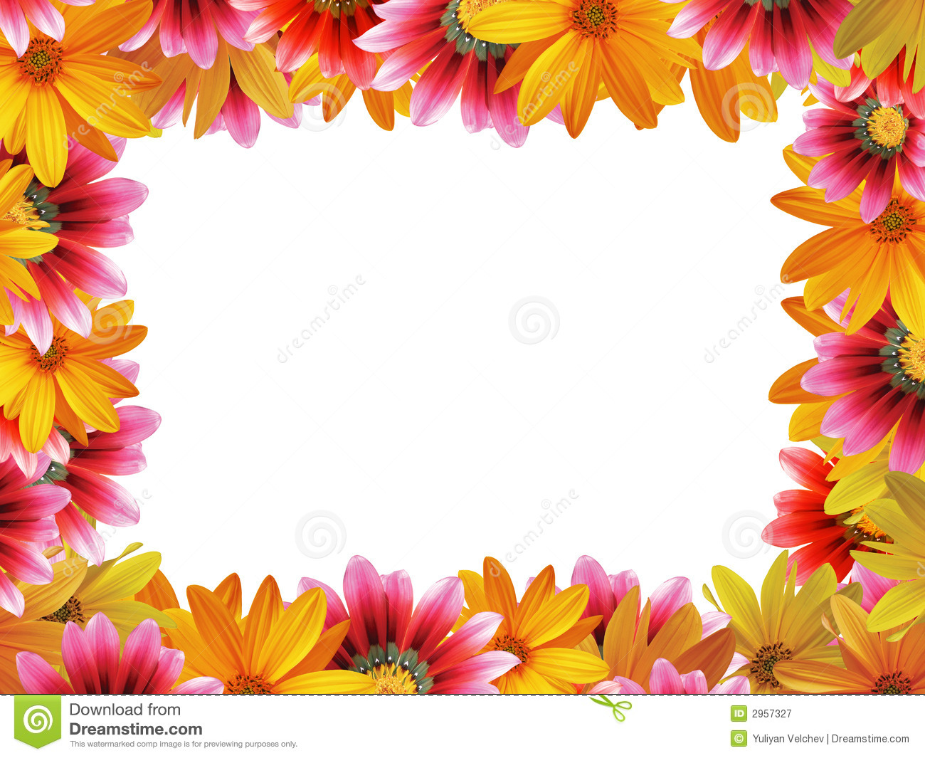 Flower frame 3 stock image. Image of beauty, color, border - 2957327