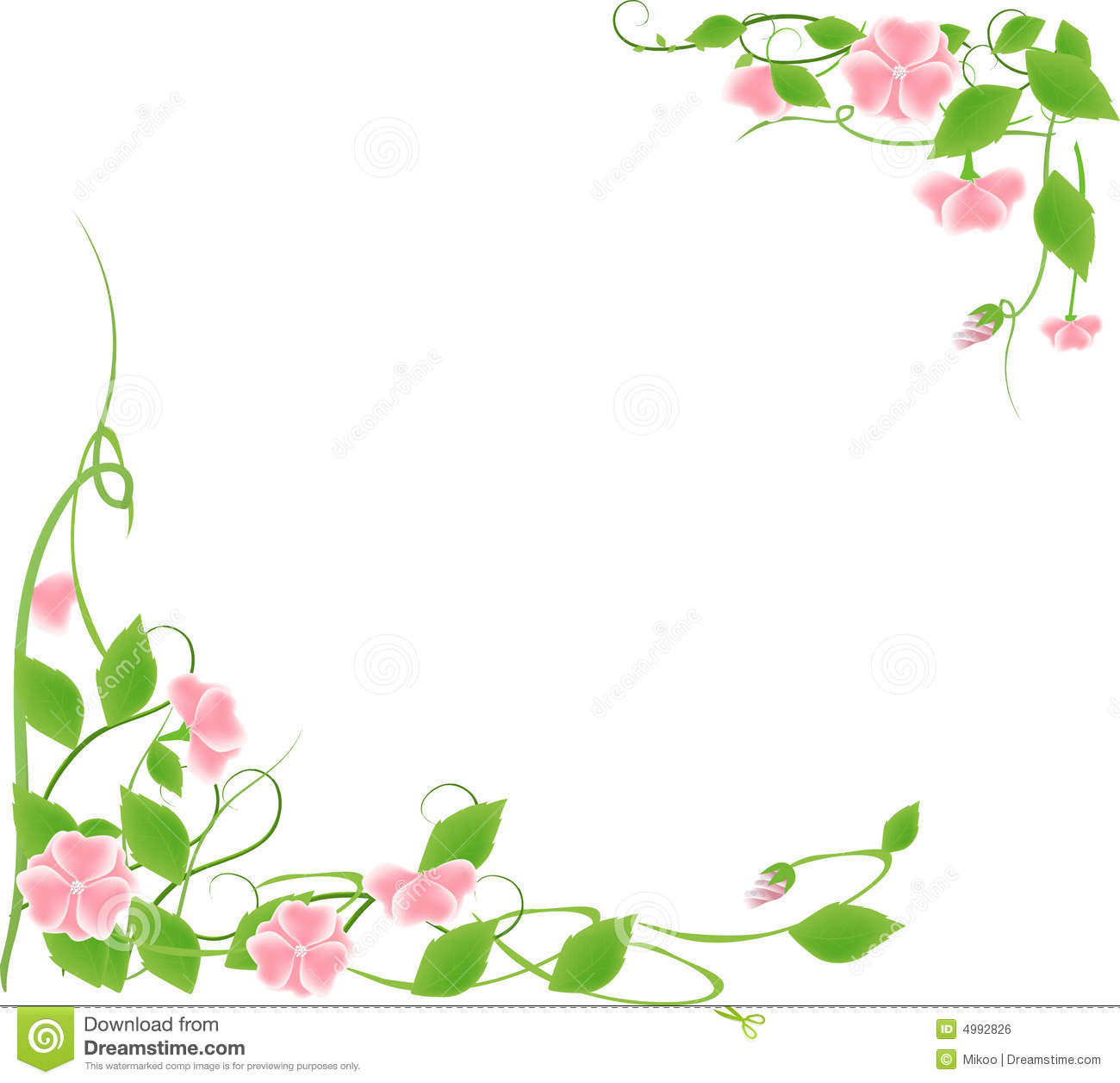 Flower frame stock vector. Illustration of floral, filigree - 4992826