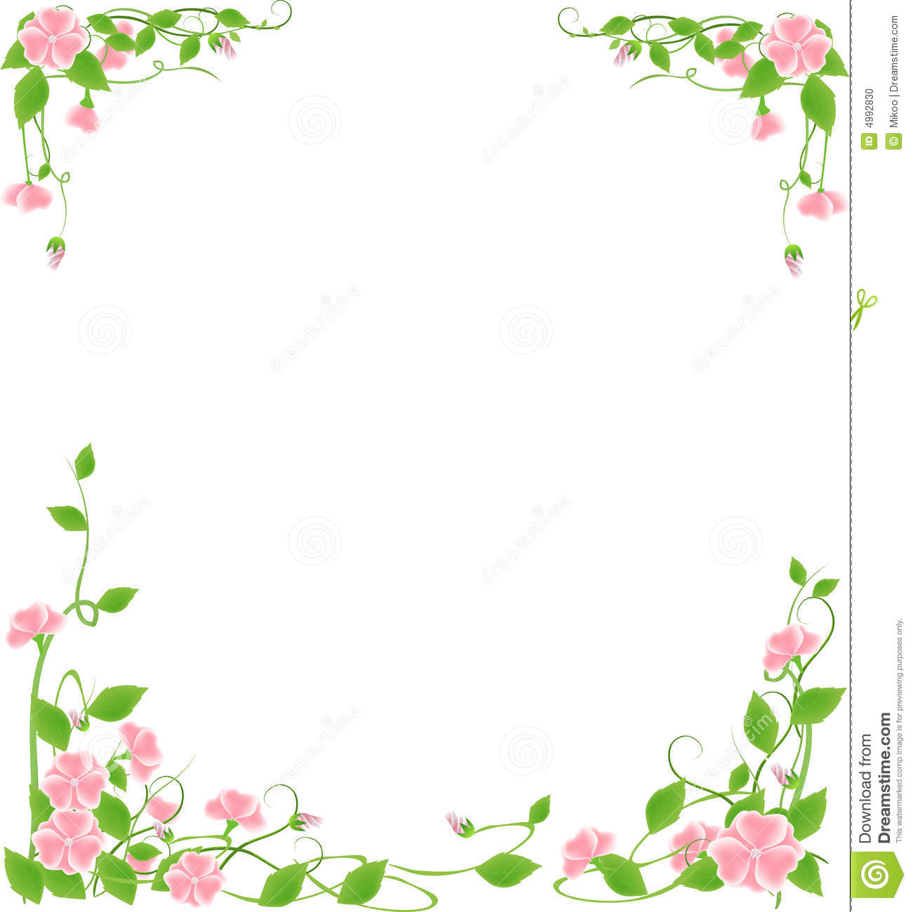 Abstract grunge flower frame ,vector illustration.