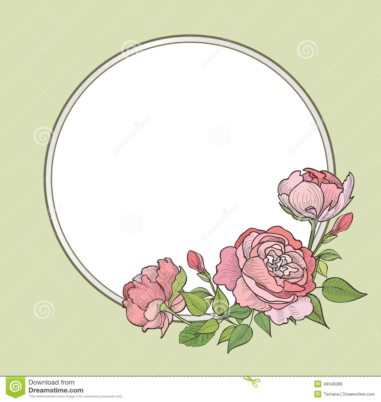 Download Flower Frame Floral Border Vintage Flourish Background In Vict Stock Illustration