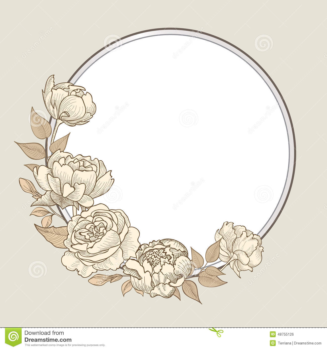 Floral Vintage Border Flourish Victorian Style Congratulation Blossom Royalty Free Illustration