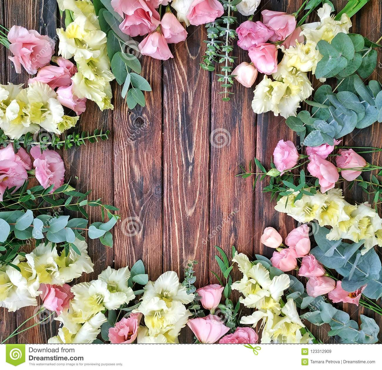 Summer Floral Frame Of Flowers A Beautiful Idea Of A Ready Made