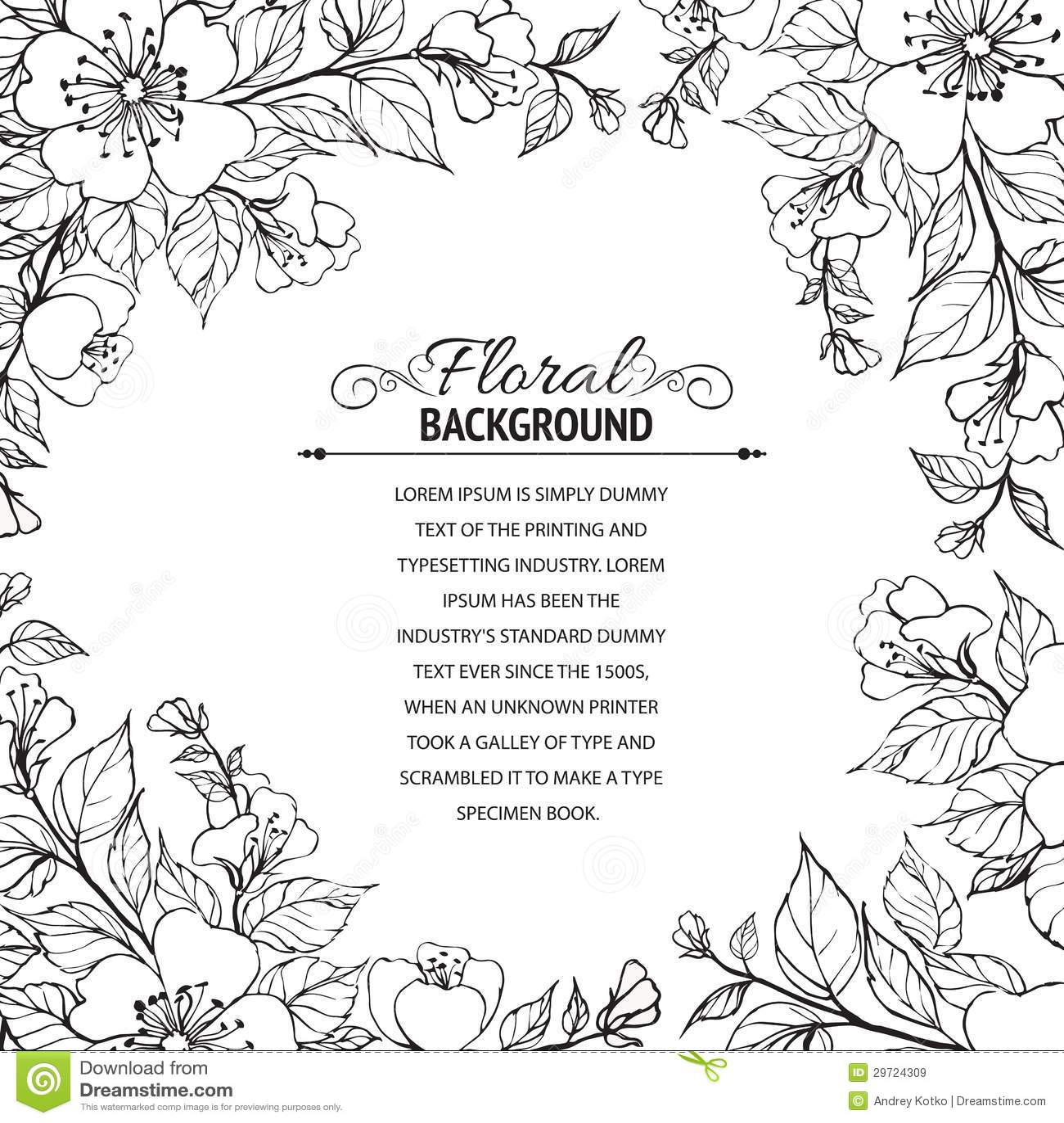 Flower frame stock vector. Illustration of copyspace - 29724309