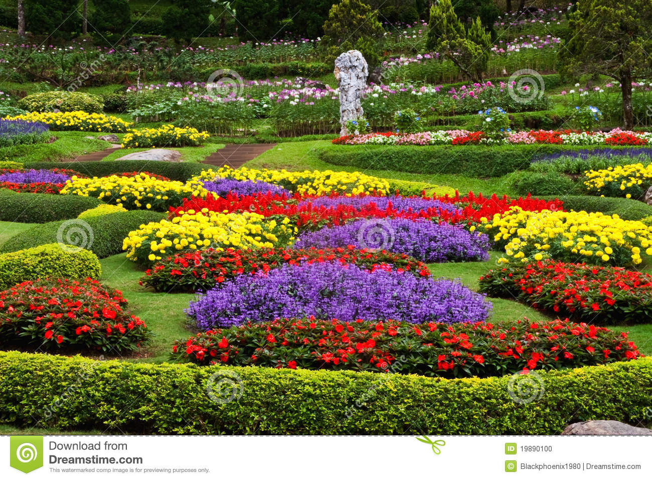 Beautiful Flower Gardens Waterfalls