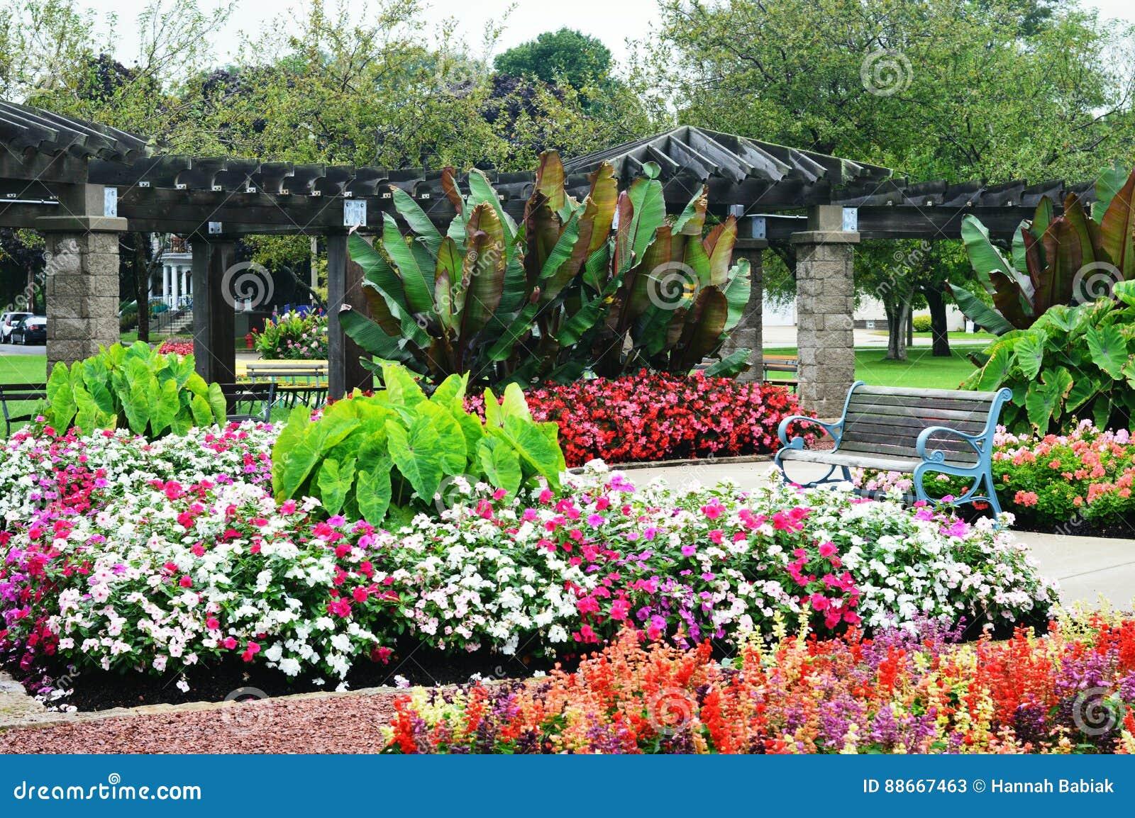 Flower Garden, Eichelman Park, Kenosha, Wisconsin