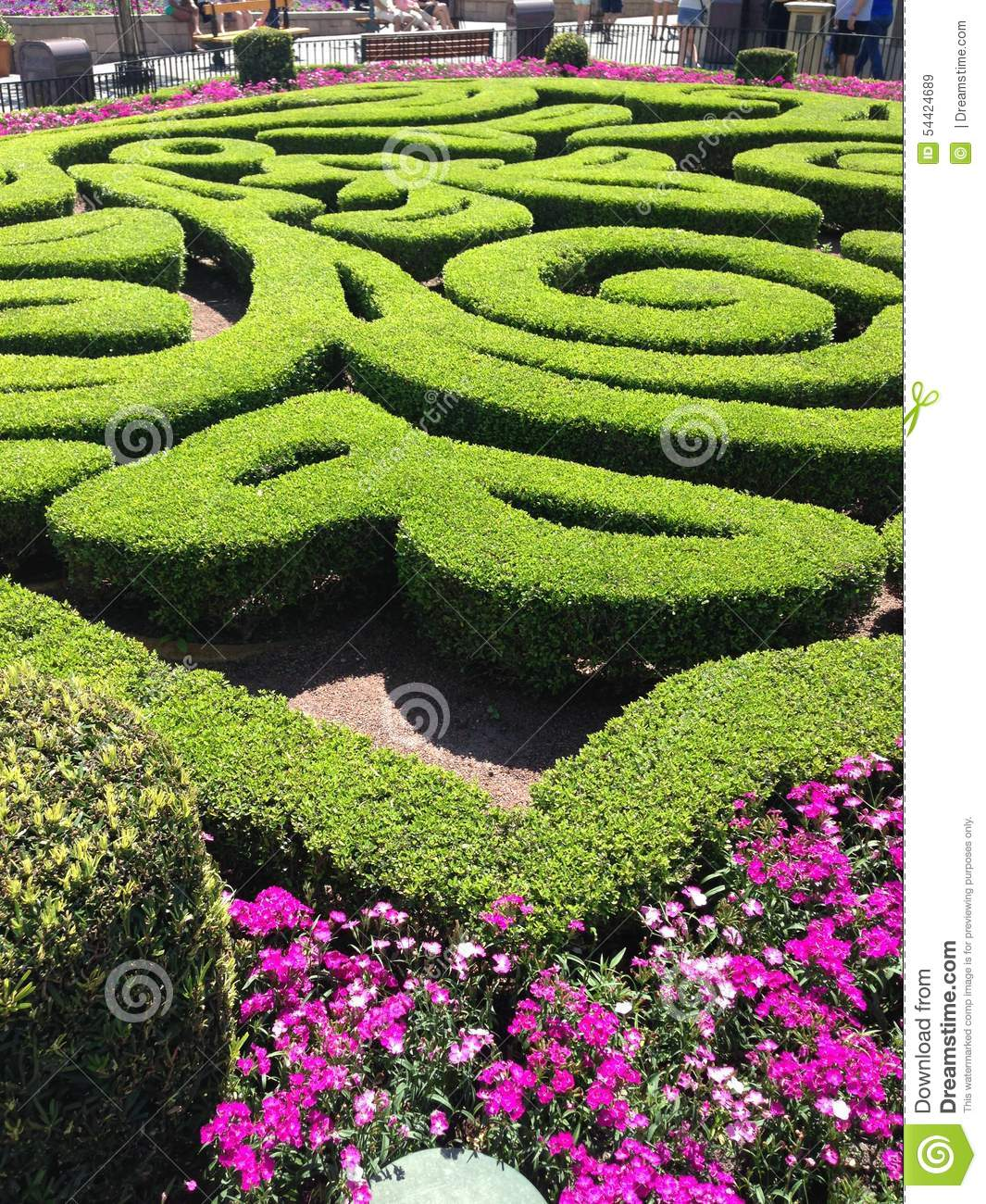 Flower and garden festival stock photo image 54424689 for Garden maze designs