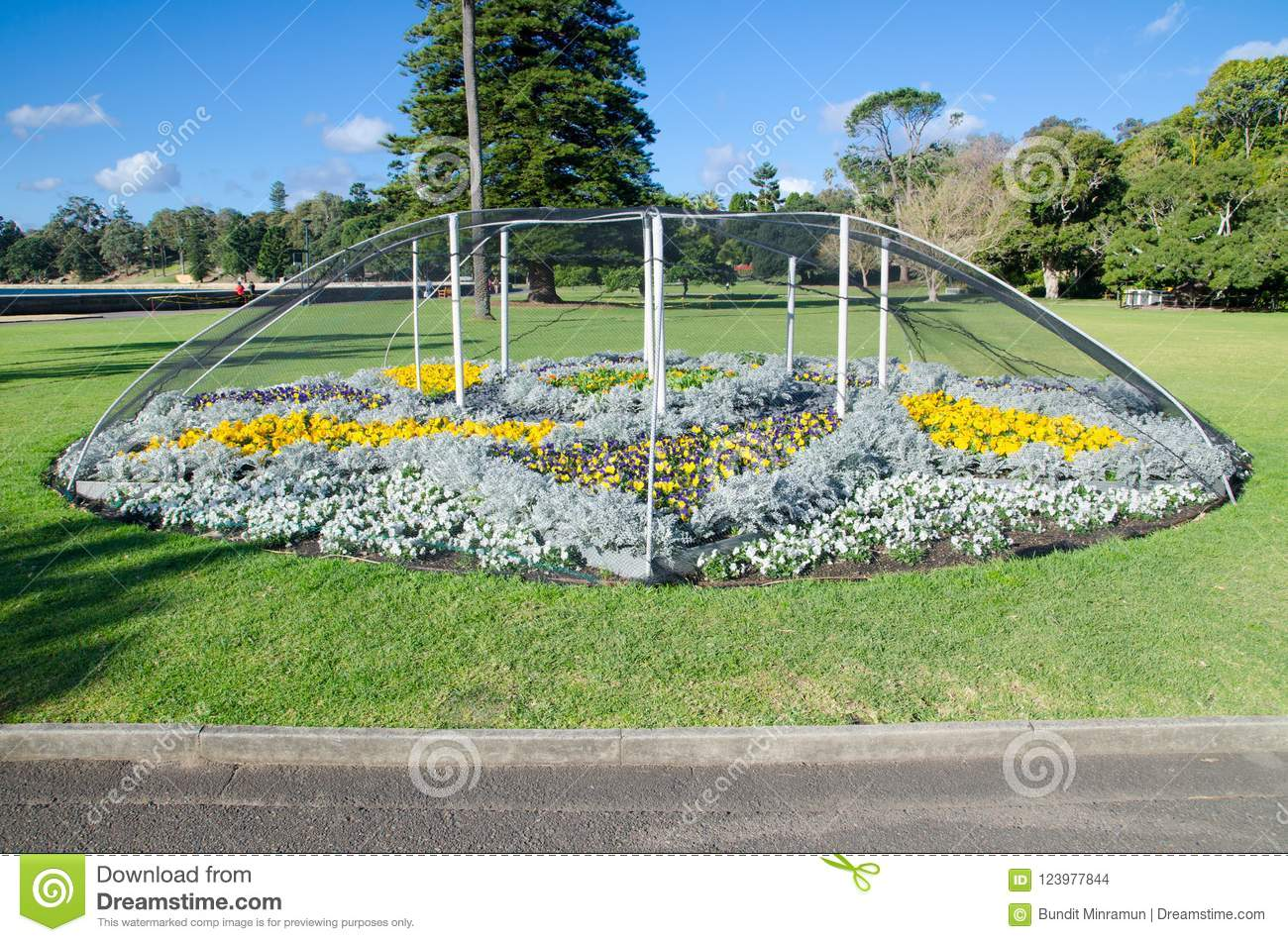 The Flower Garden Has Protected By Cover Up With Bird
