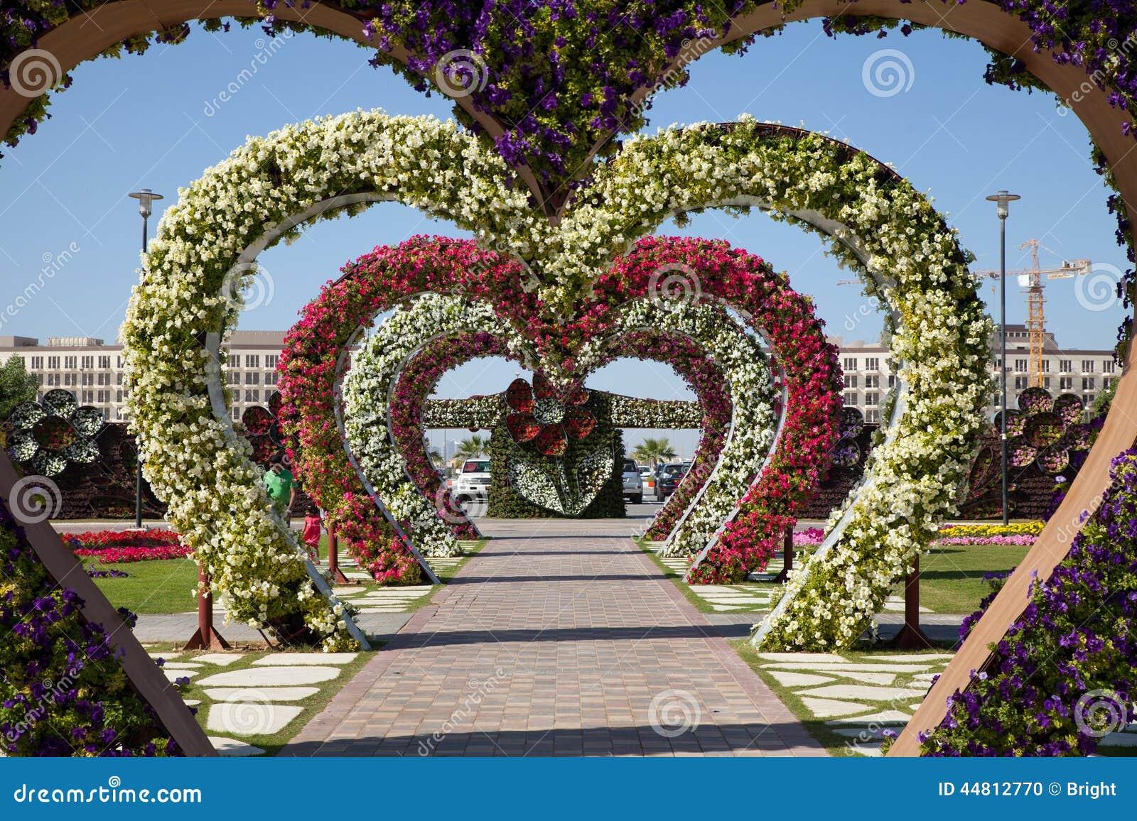 Flower garden hearts dubai miracle garden editorial image image