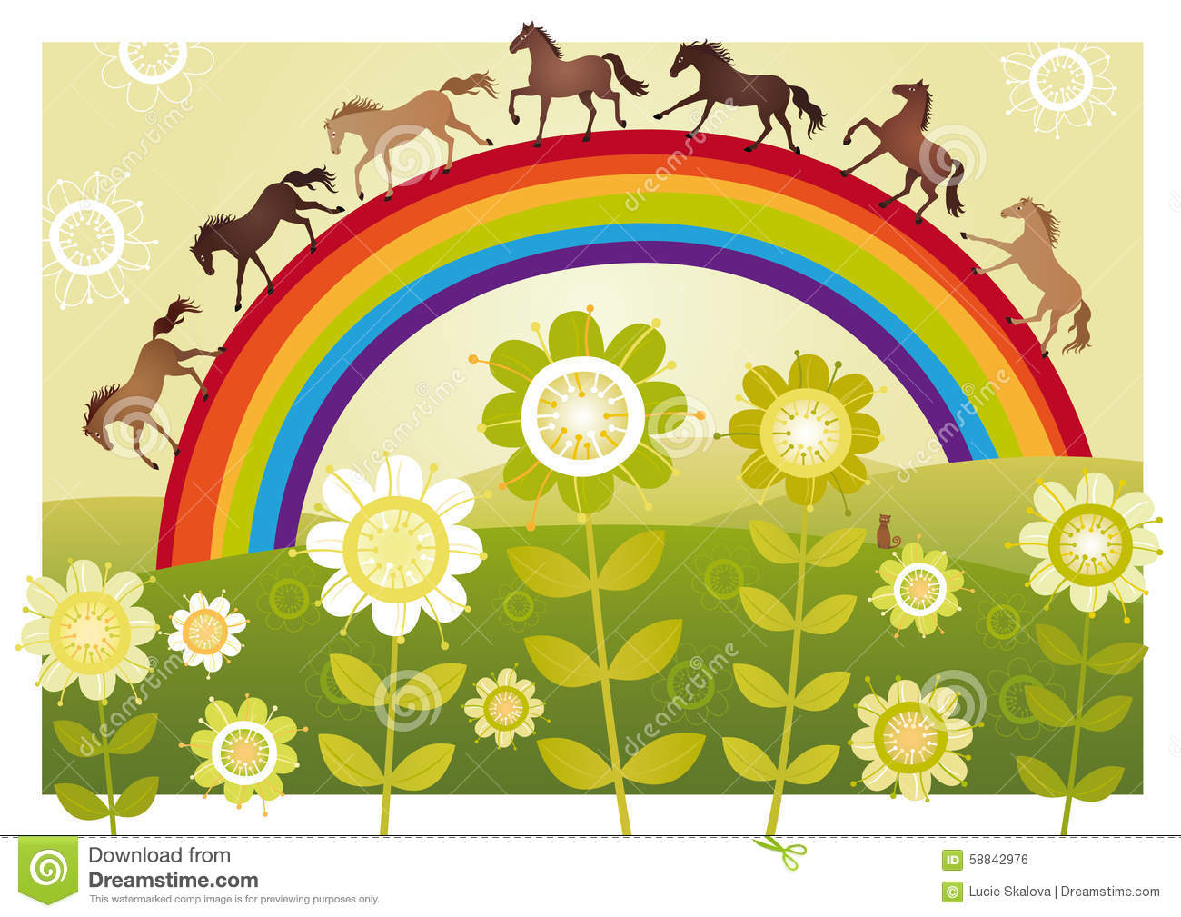 Flower garden with rainbow stock vector. Illustration of ... on rainbow flower design, rainbow flower bulbs, rainbow flower weddings, natural pools and gardens, rainbow flower trees, rainbow grass, rainbow flower plants, rainbow flower art, rainbow flower arrangement, rainbow flower tattoos, rainbow colored flowers, rainbow flower roses, philadelphia magic gardens, rainbow photography, rainbow flower cake, rainbow nature, beautiful spring gardens, rainbow flower paintings, rainbow fields, rainbow flower landscape,