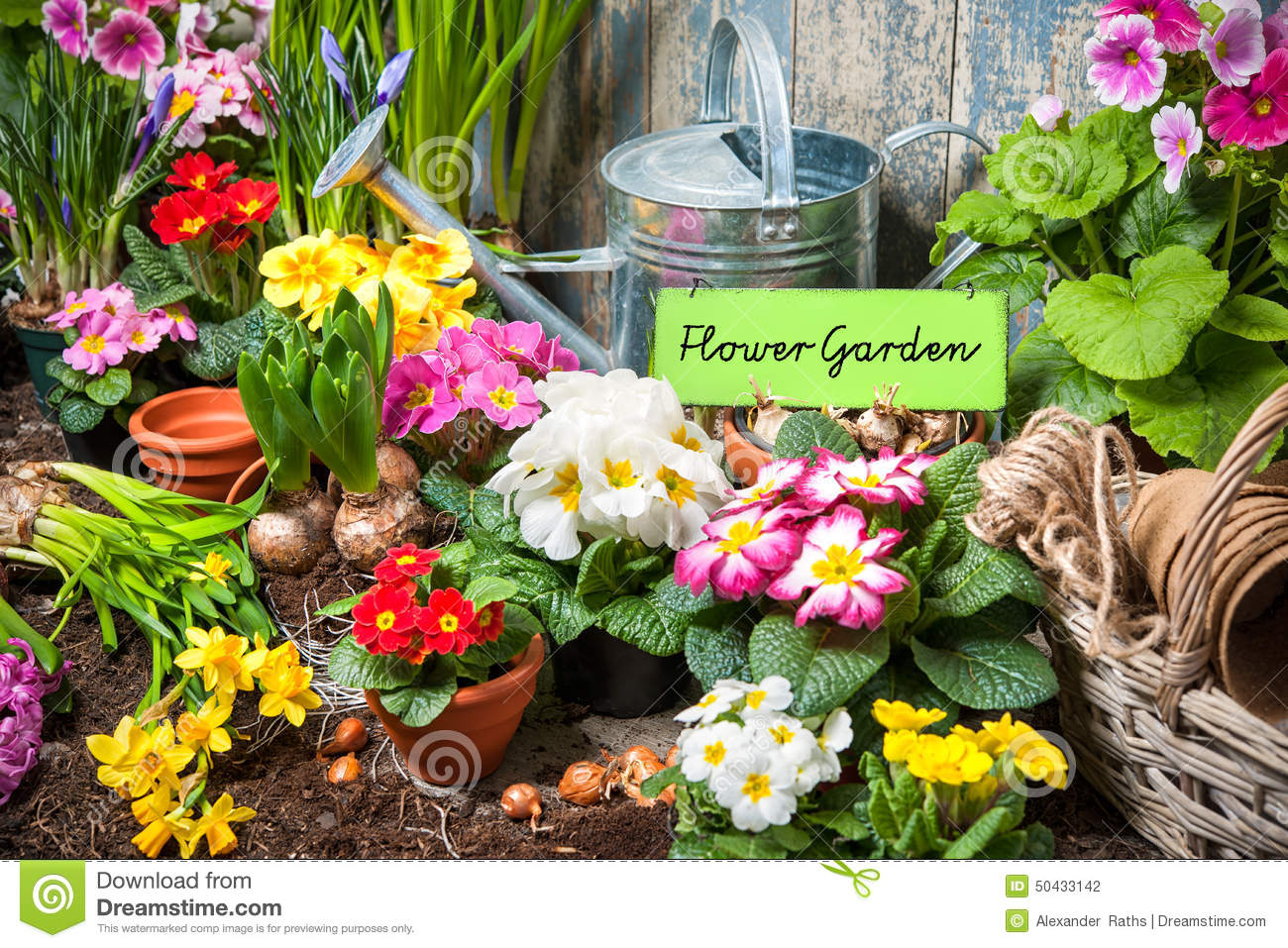 Flower Garden Sign Stock Photo Image 50433142