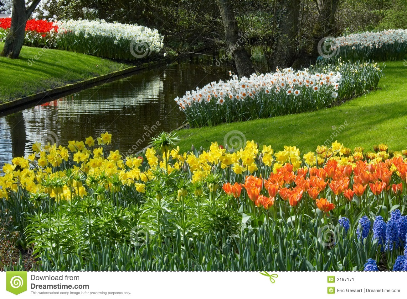 Flower Garden In Spring Stock Image - Image: 2197171