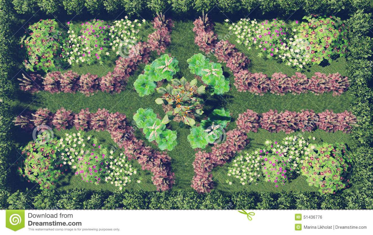 Flower Garden Top View