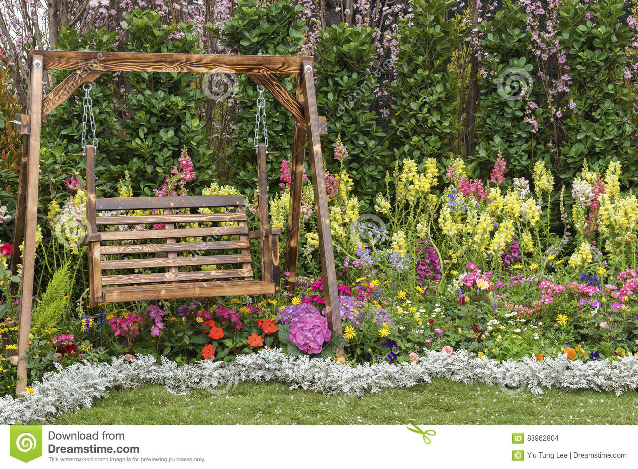 Flower Garden Stock Photo Image Of Background Relaxing