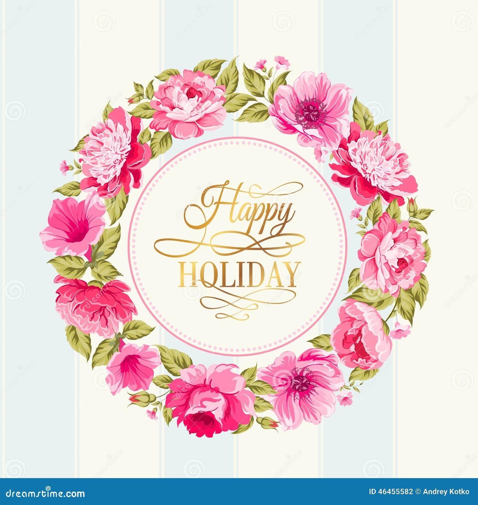Flower garland. stock vector. Image of beautiful, love ...