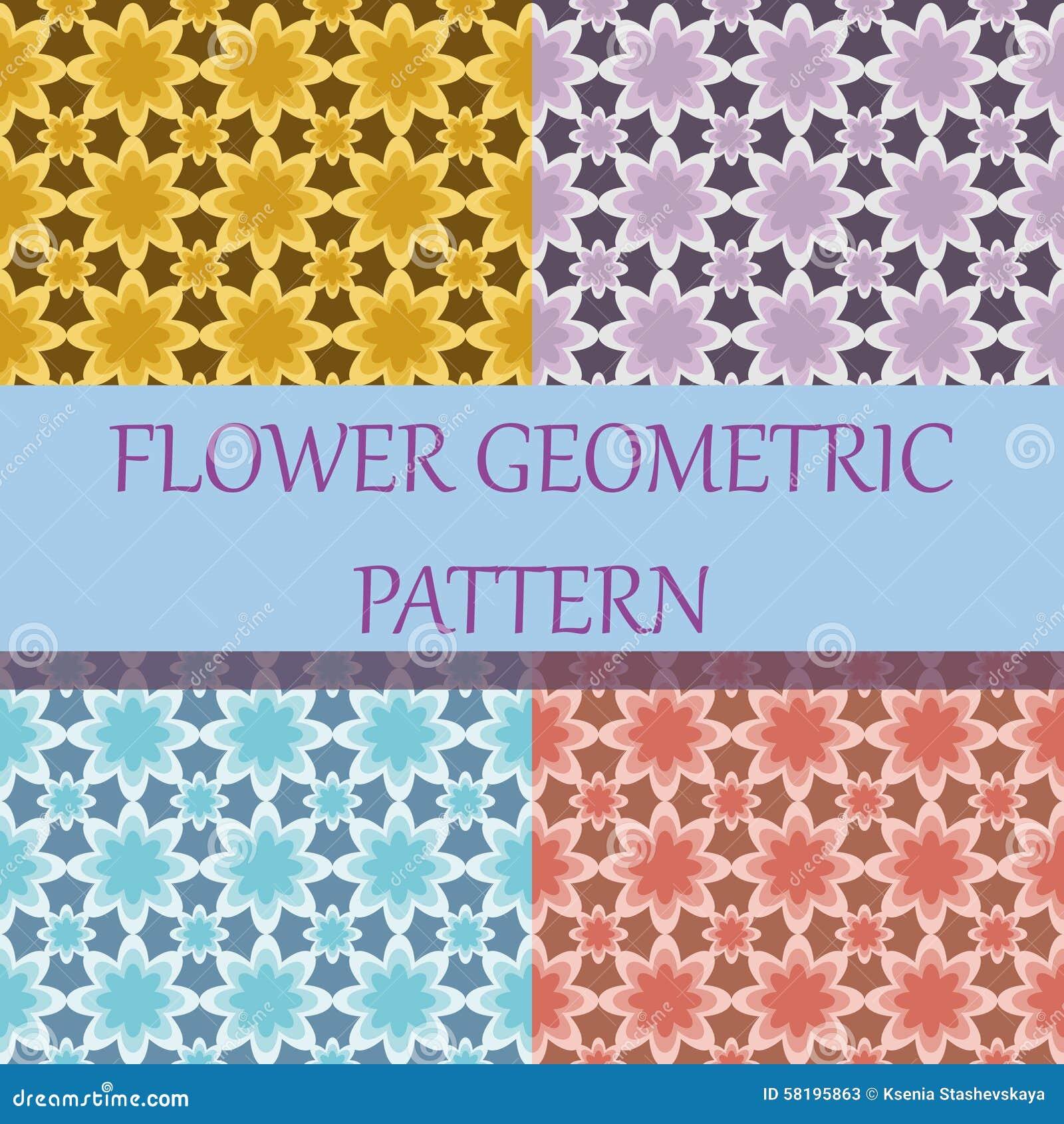Flower Geometric Background Pattern