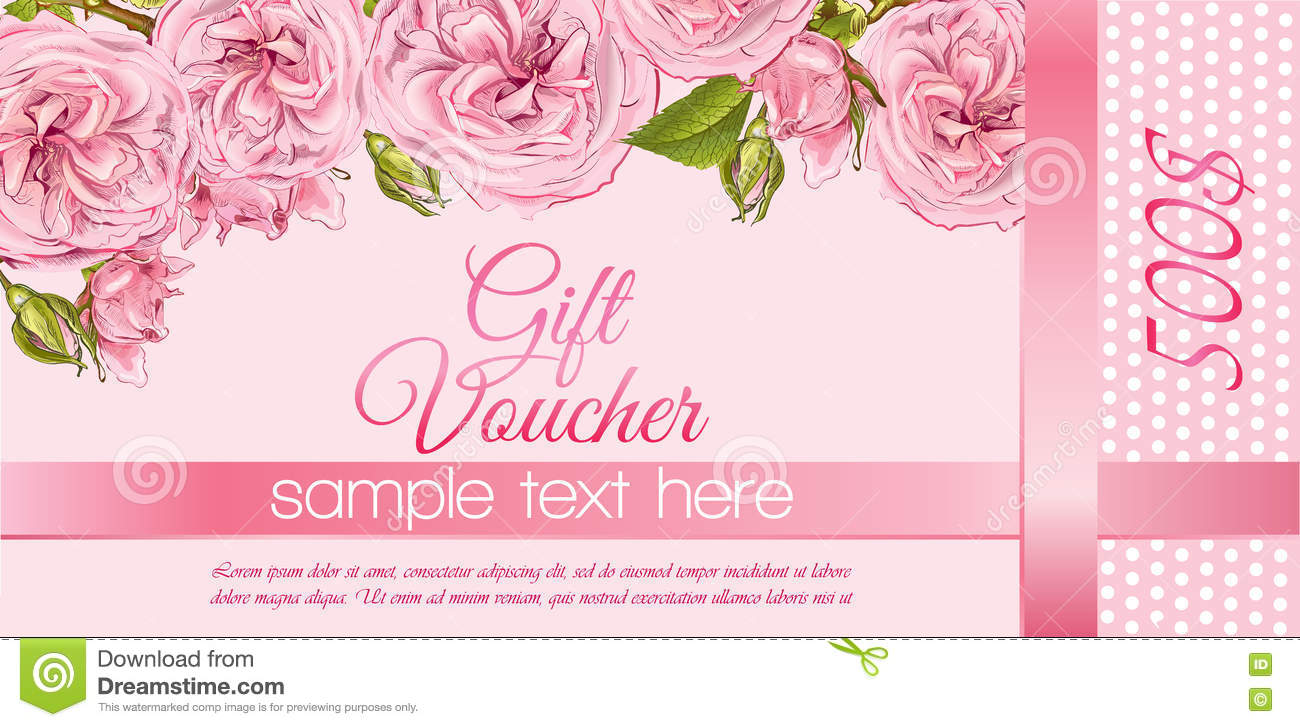 Flower gift vouchers stock vector illustration of aroma 78937383 flower gift vouchers aroma herbal negle Images