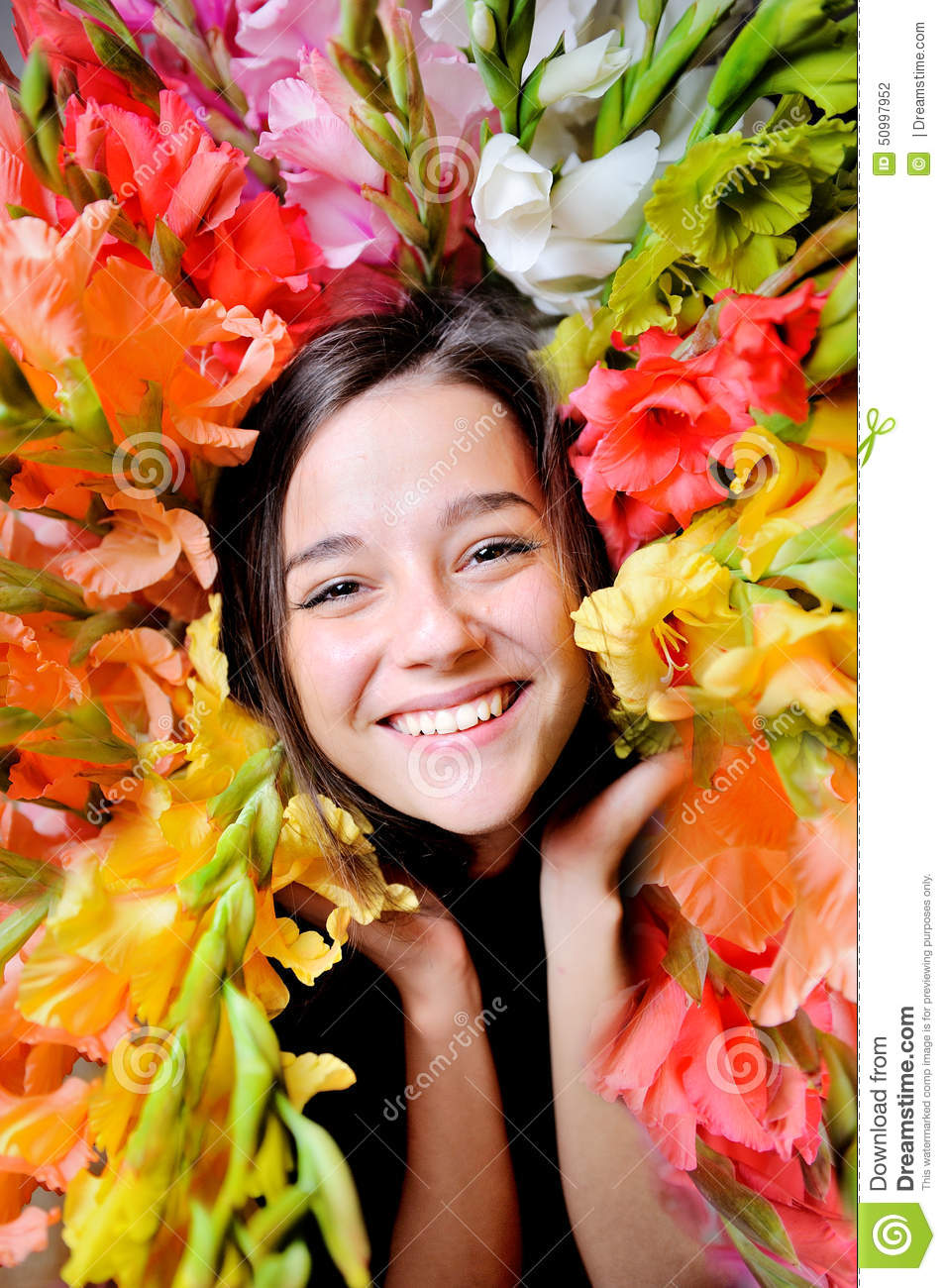 Flower Girl Stock Photo Image Of Background Clean Fashion 50997952