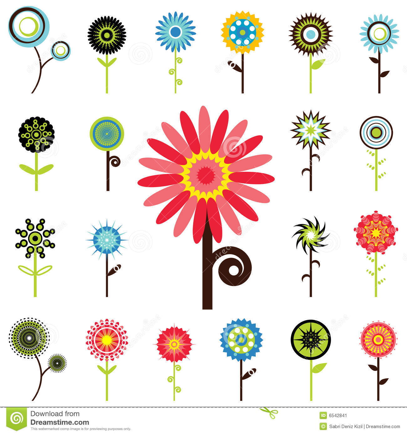 Flower Graphics Stock Image Image 6542841