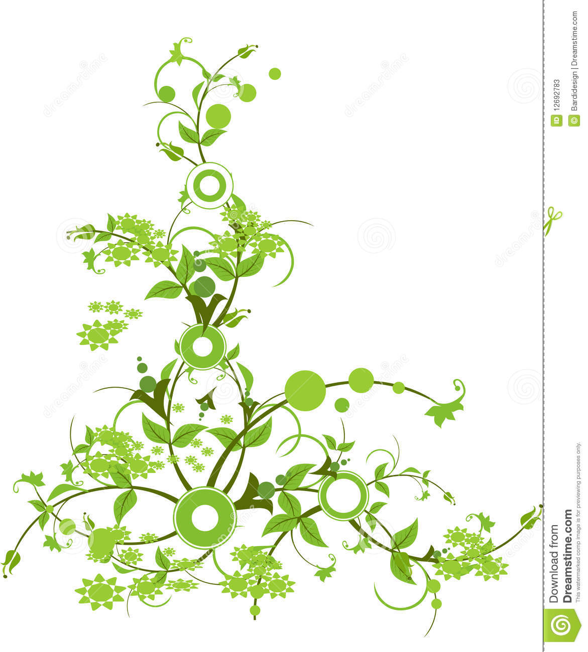 Flower with green color stock vector. Illustration of illustration ...