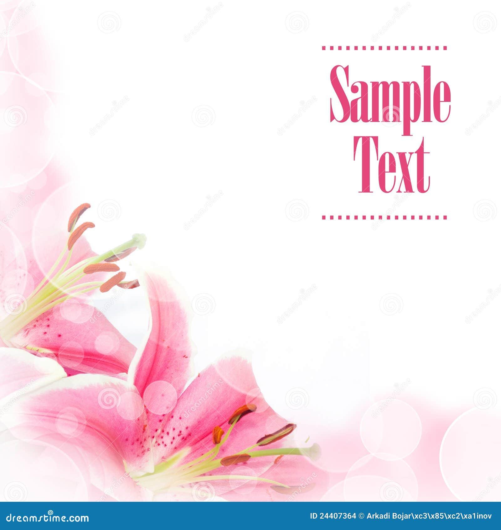 Flower Greeting Card Stock Photo. Image Of Border, Bokeh