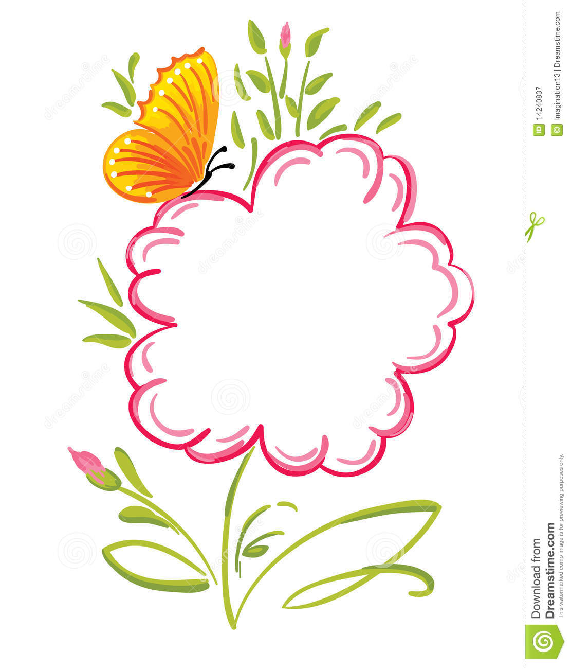 Flower Greetings Royalty Free Stock Photography - Image: 14240837