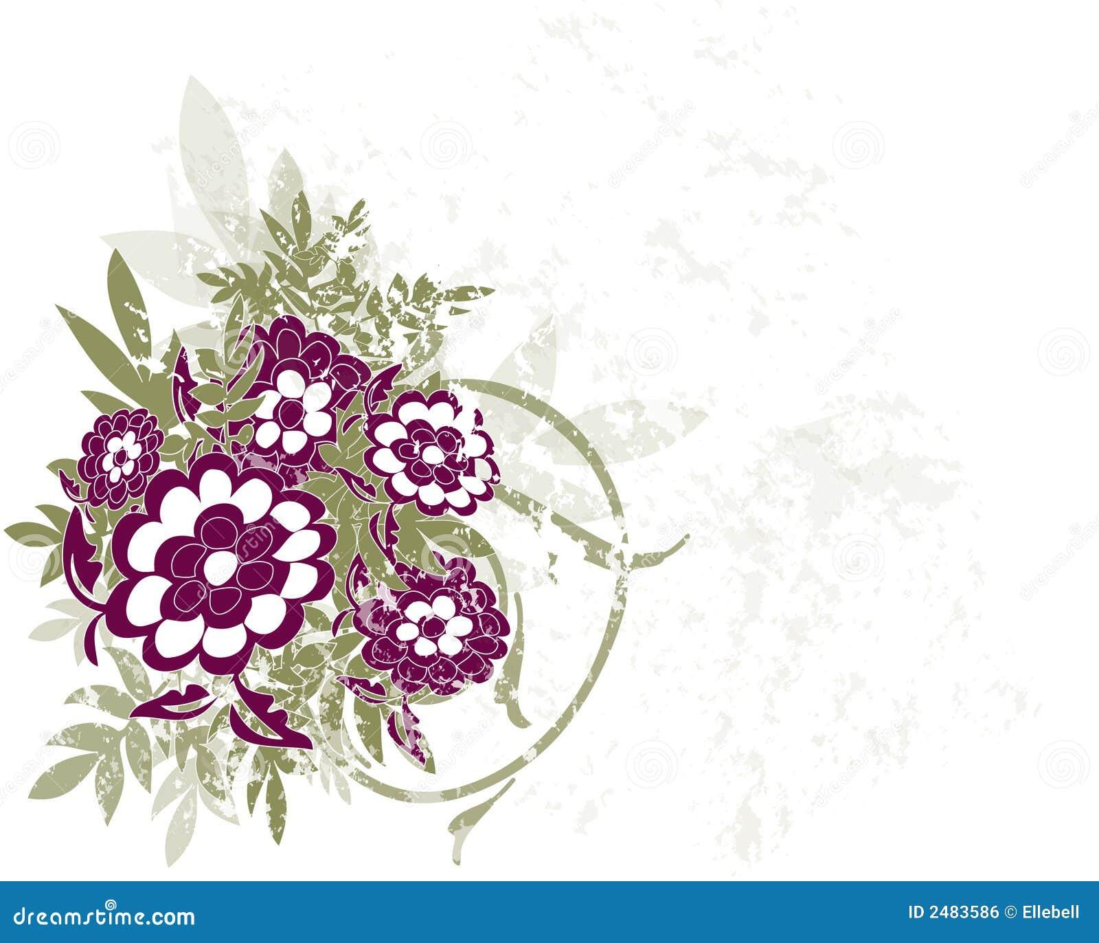 Flower Grunge Background stock vector. Illustration of ...