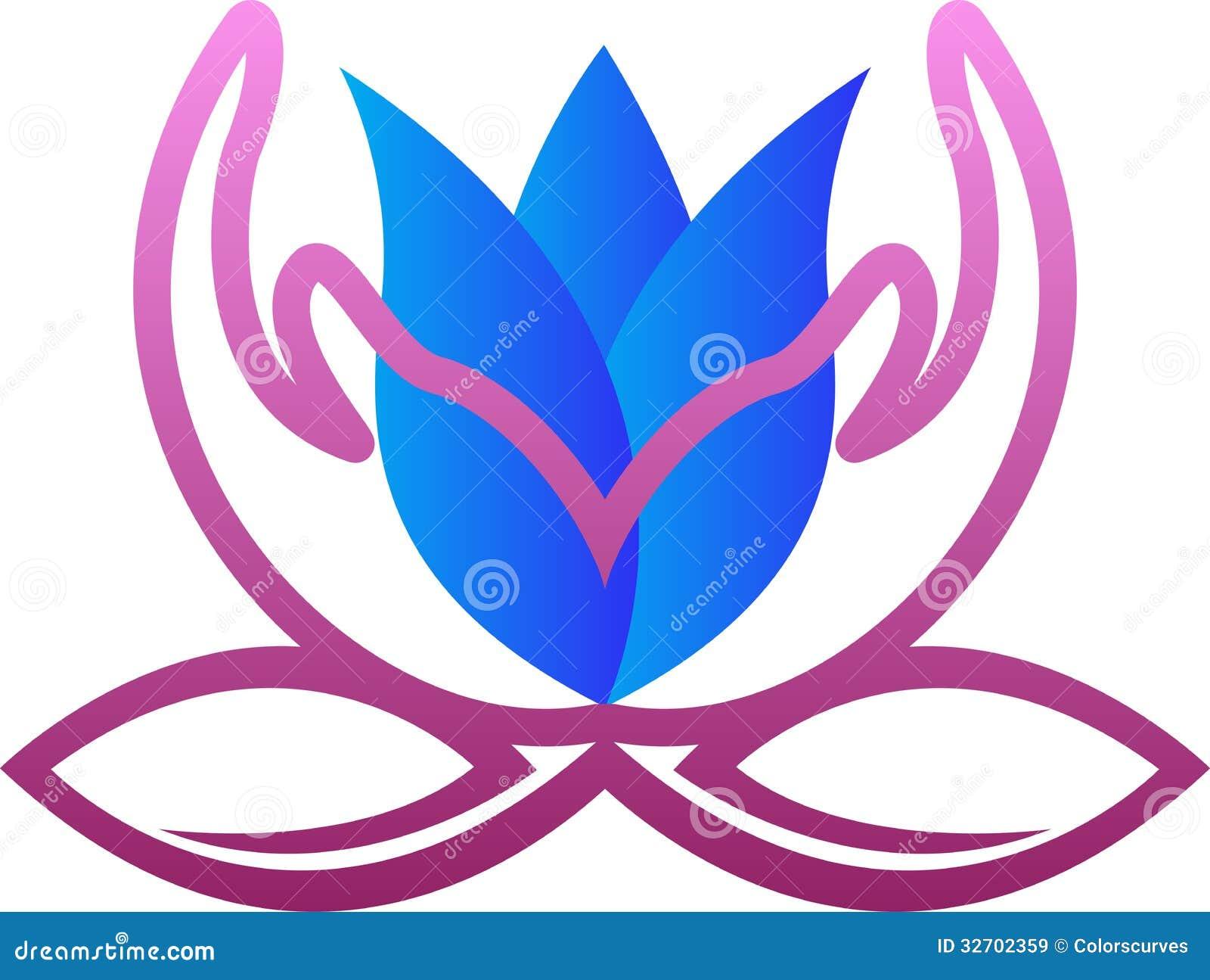 Flower hand logo