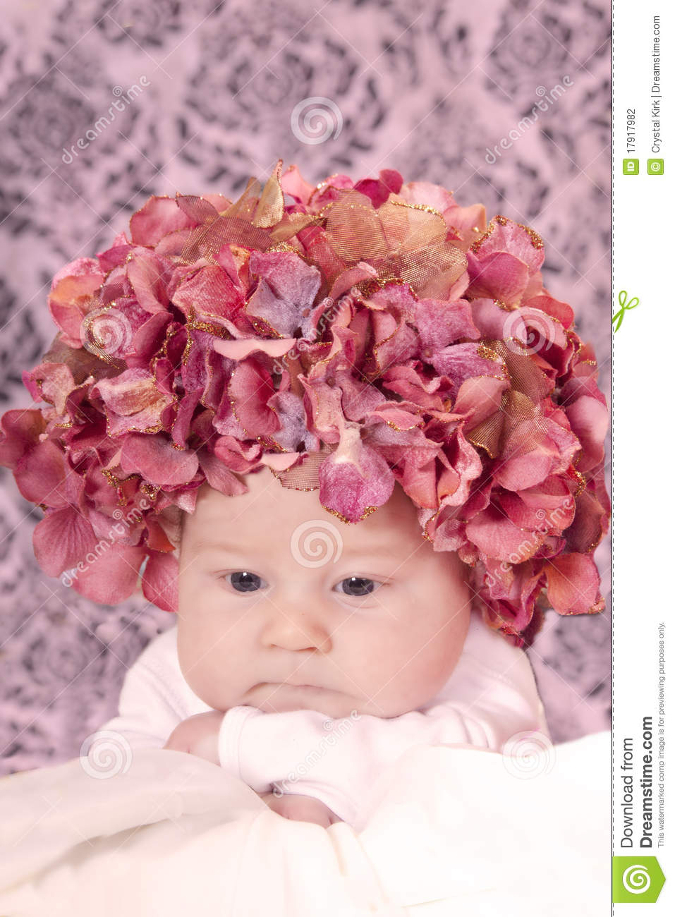 Flower hat baby stock photo. Image of small 706540589