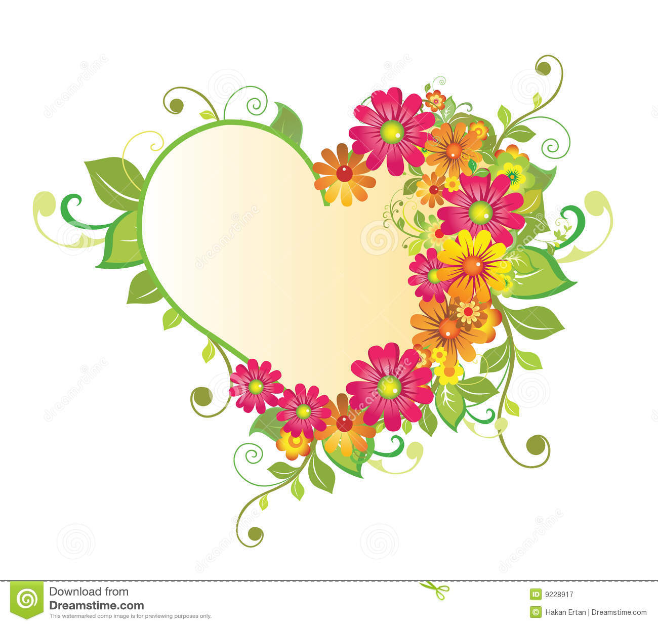 flower heart illustration   megapixl, Beautiful flower