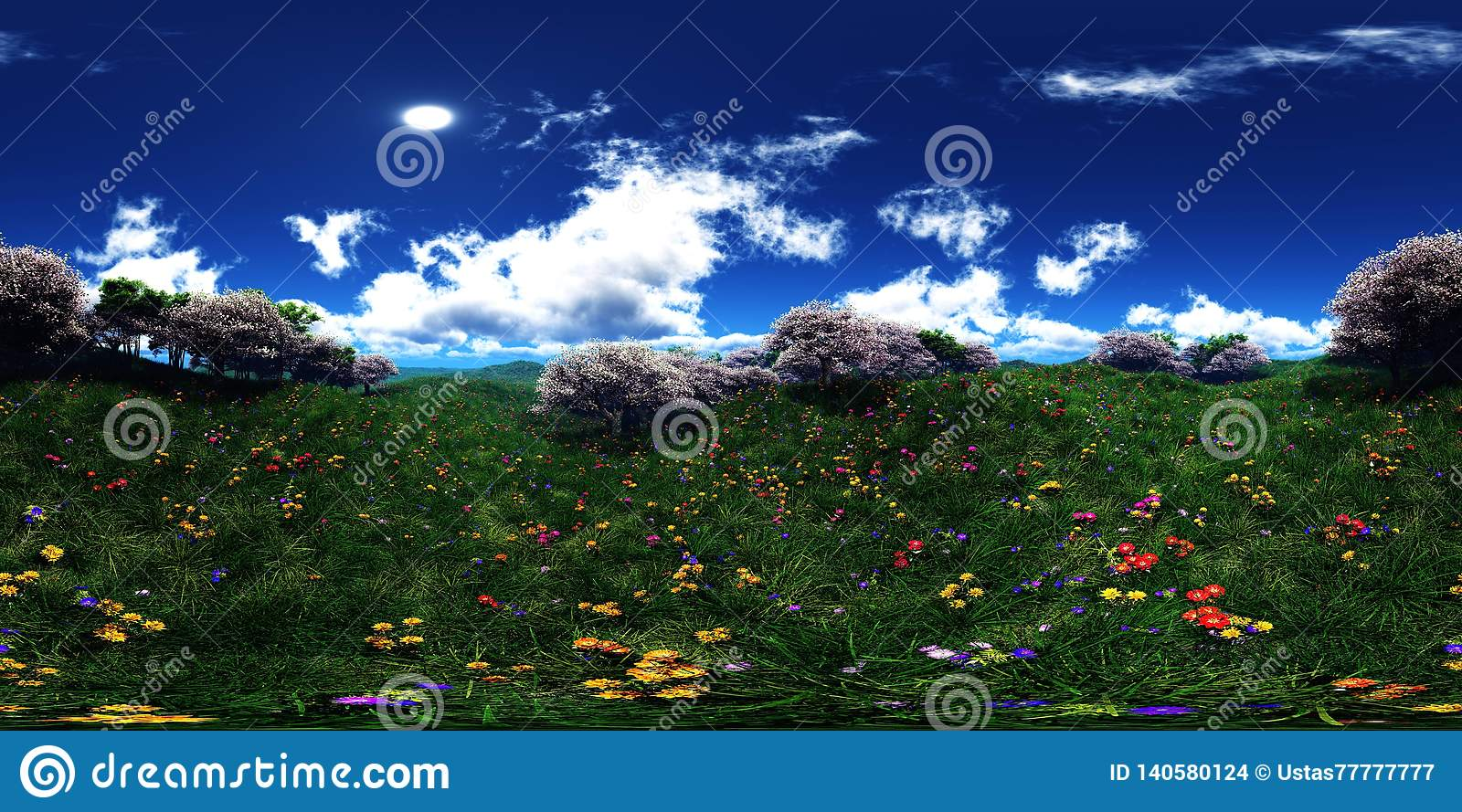 c8d8fb2fe5365 Green hills under the setting sun in the clouds, panorama of the hilly  landscape, beautiful sunset over the green hills flower hills, spring  landscape of ...