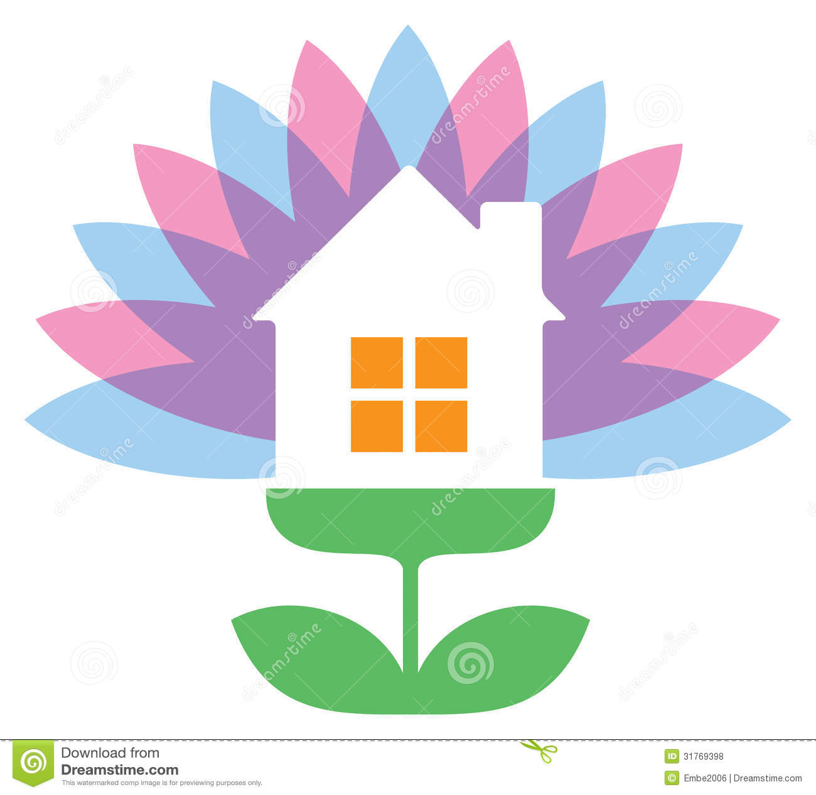 Flower house logo royalty free stock photos image 31769398 for House logo design free