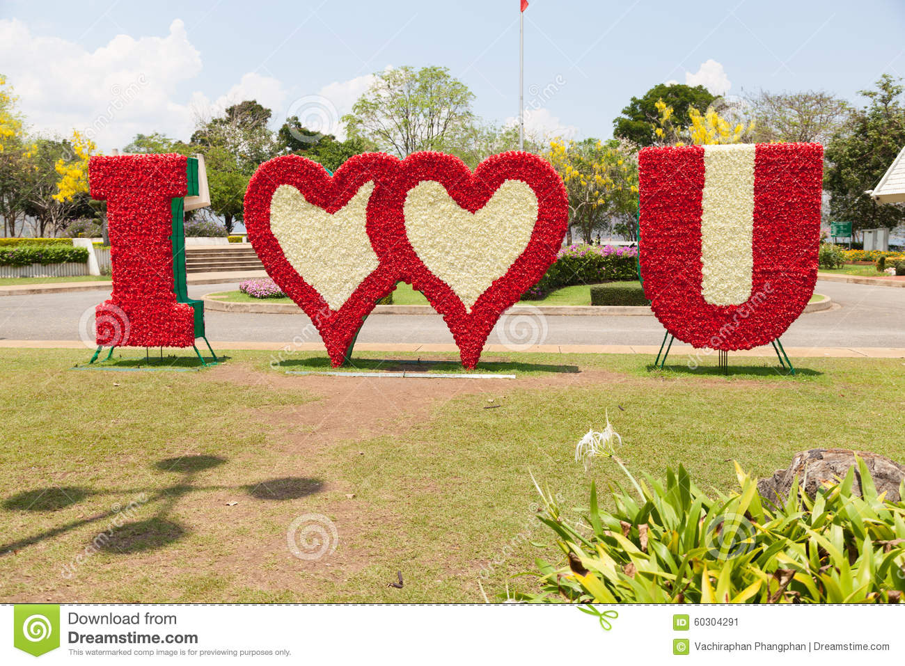 Flower I Love You Stock Image Image Of Background Grass 60304291