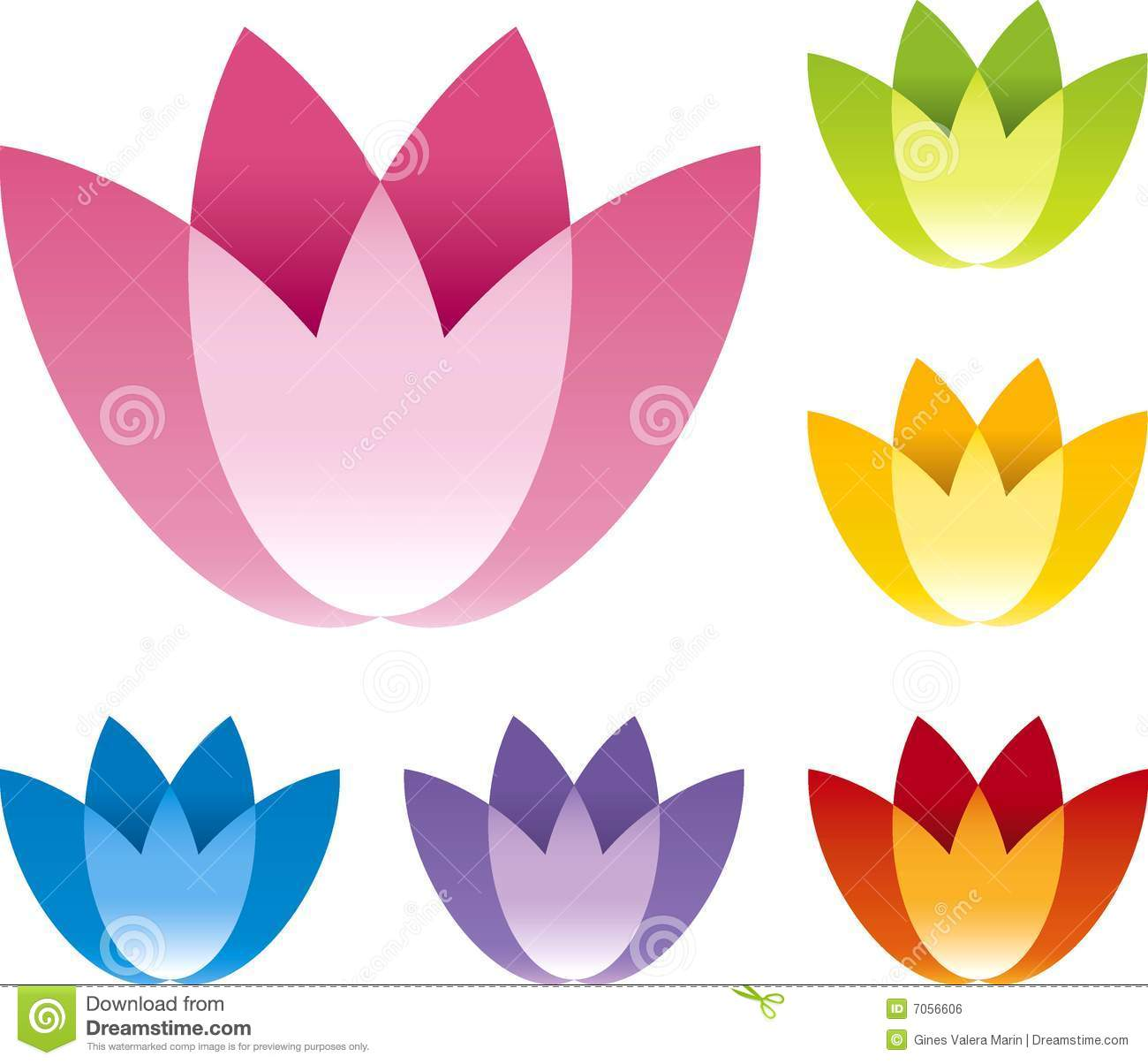 Flower icon set vector illustration stock vector image 40410791 flower icon royalty free stock image dhlflorist Images