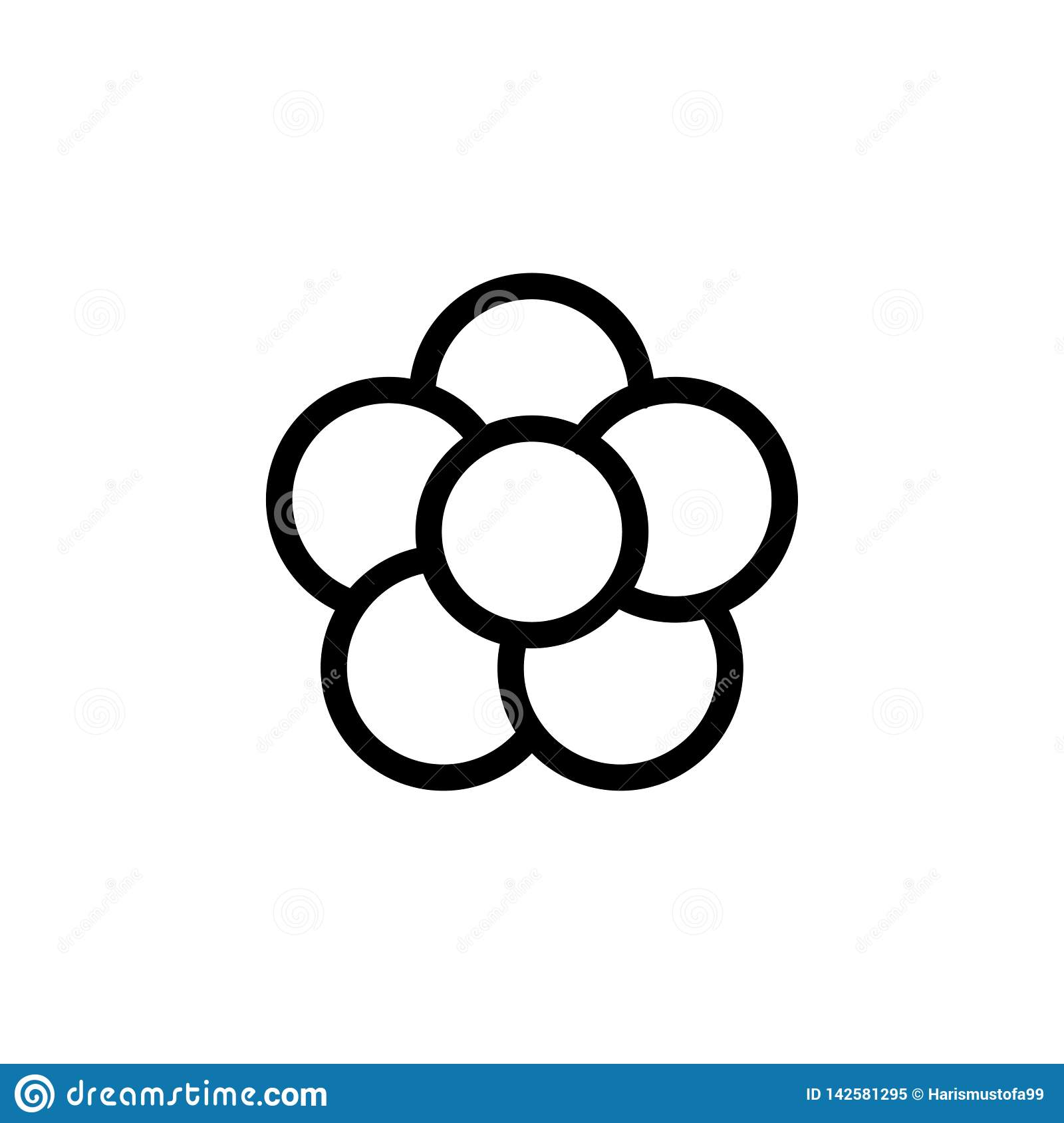 Flower icon design template vector isolated