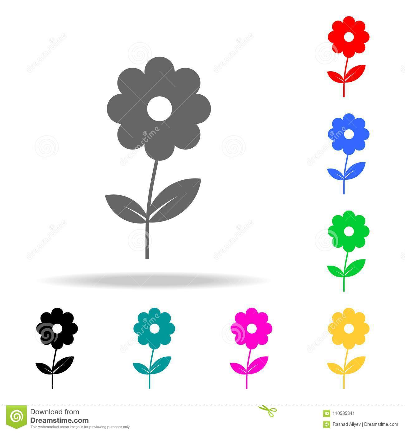 flower icon. Elements in multi colored icons for mobile concept and web apps. Icons for website design and development, app develo