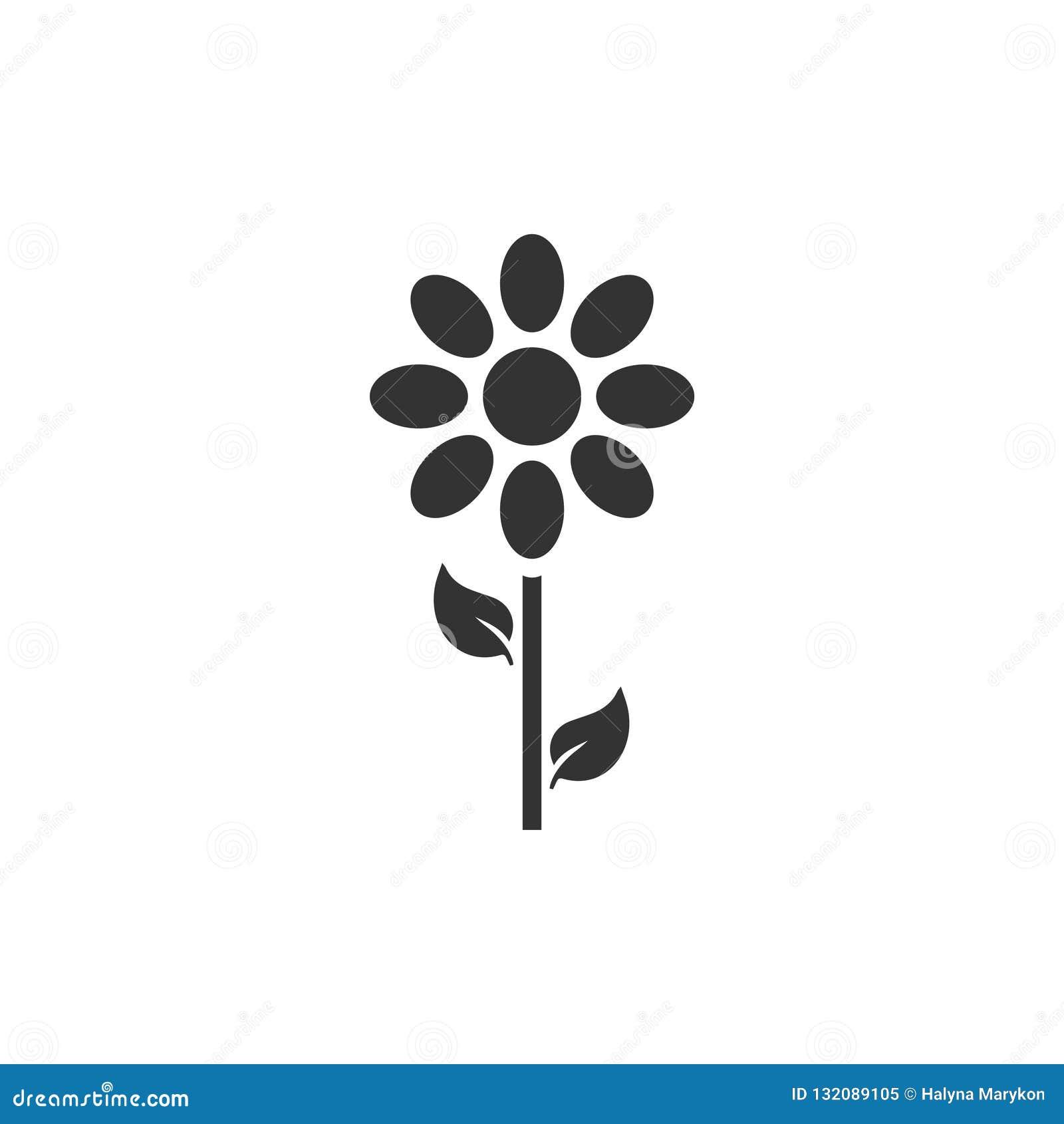 Flower icon flat