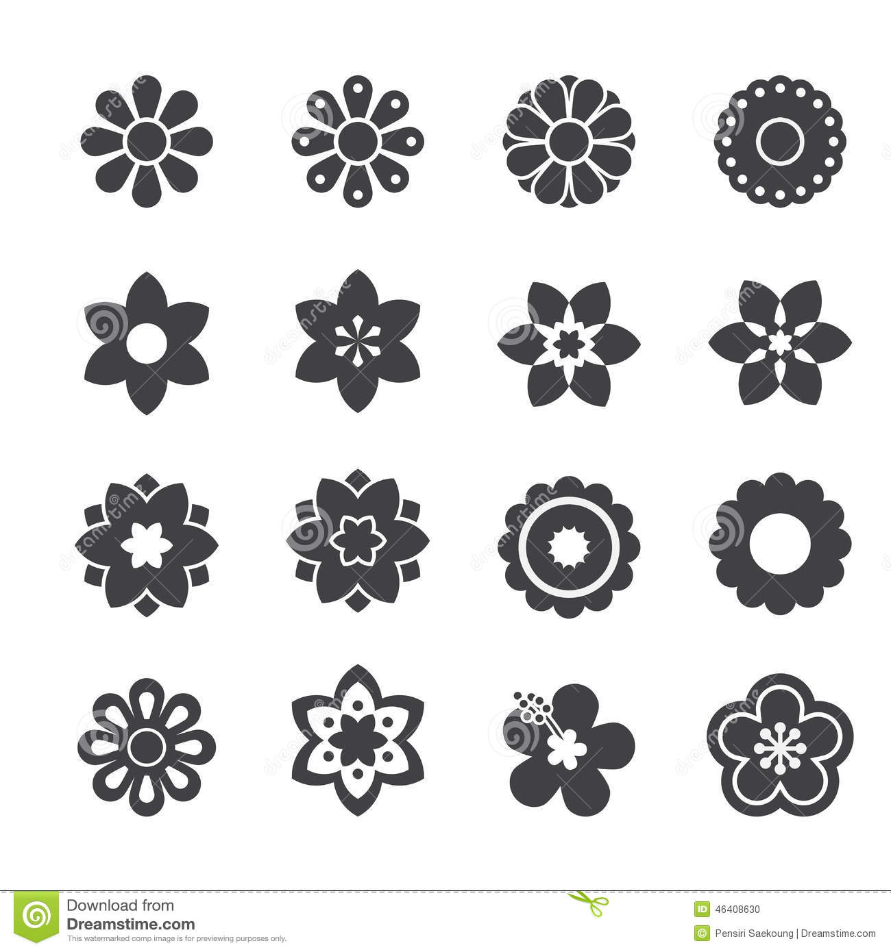 Flower Icon Stock Vector Image