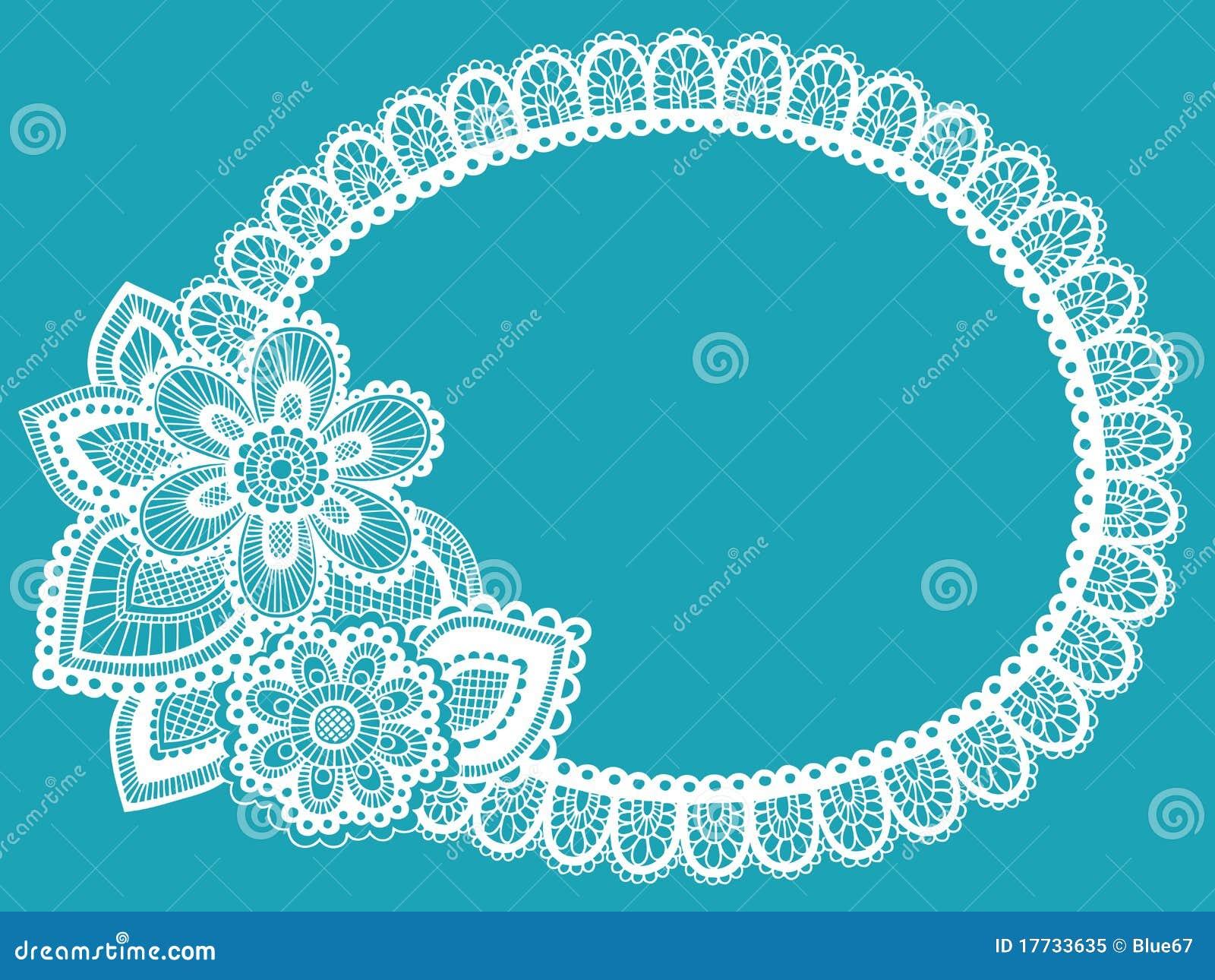 Lace Doily Henna Flower Vector Illustration Design
