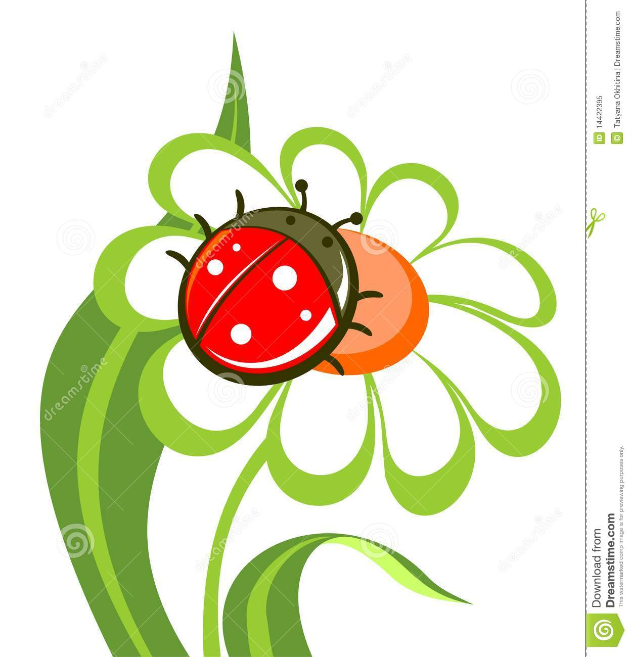Flower With Ladybird Royalty Free Stock Photo - Image: 14422395