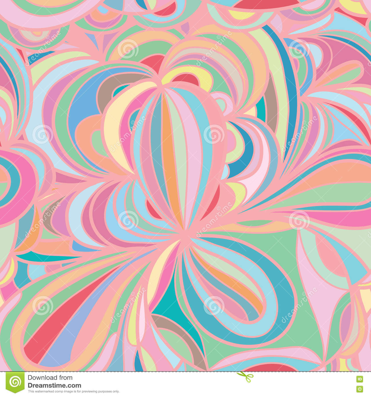 Floral design in circle stock vector image 75615991 - Flower Leaf Circle Pastel Seamless Pattern Illustration Drawing Color 74763991 Flower Leaf Circle Pastel Seamless Pattern