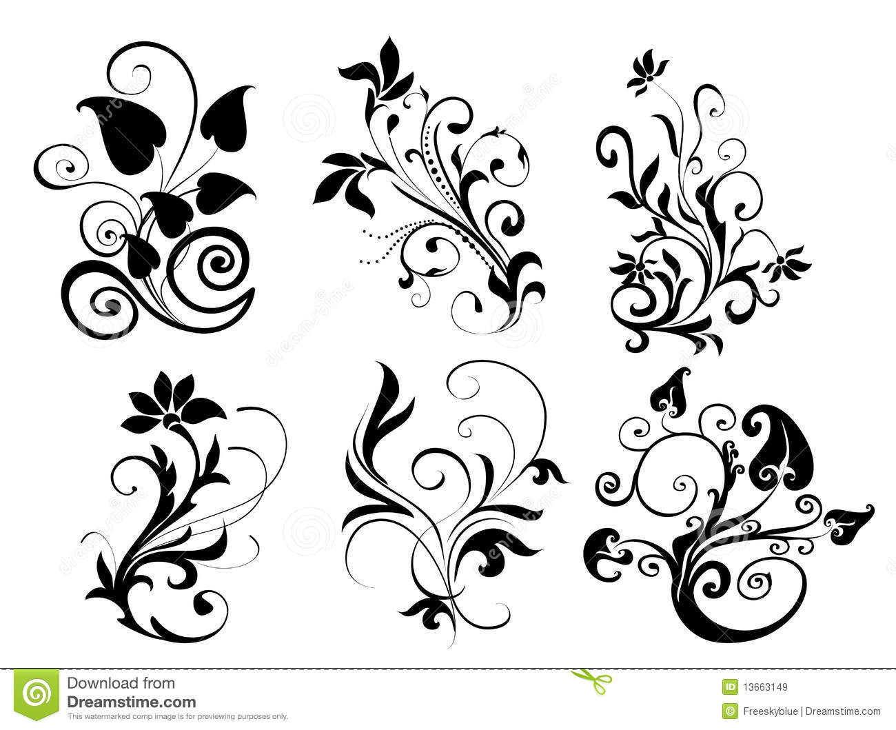 flower and leaves pattern stock illustration illustration of