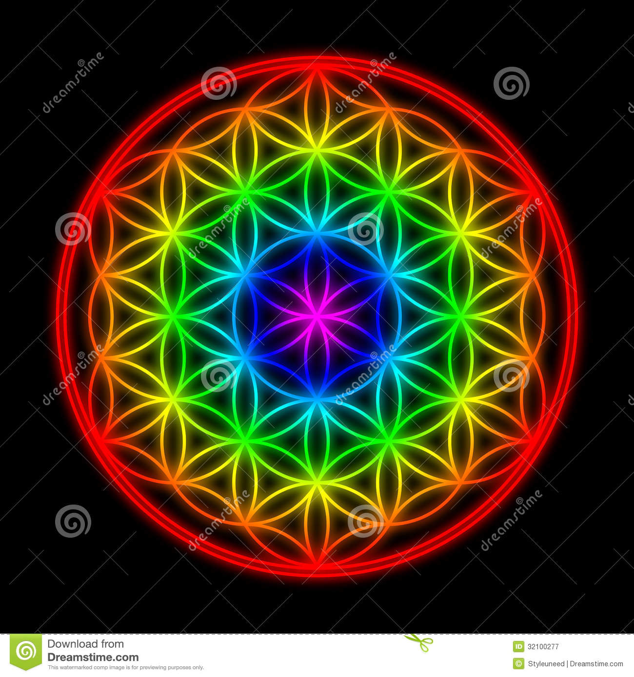 Flower Of Life Royalty Free Stock Photography