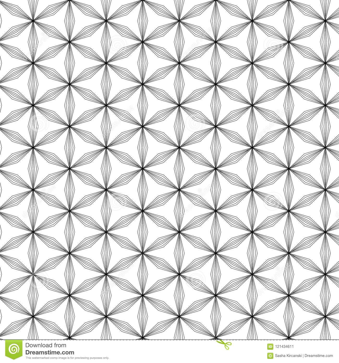 Flower Of Life Vector Pattern Stock Vector Illustration Of