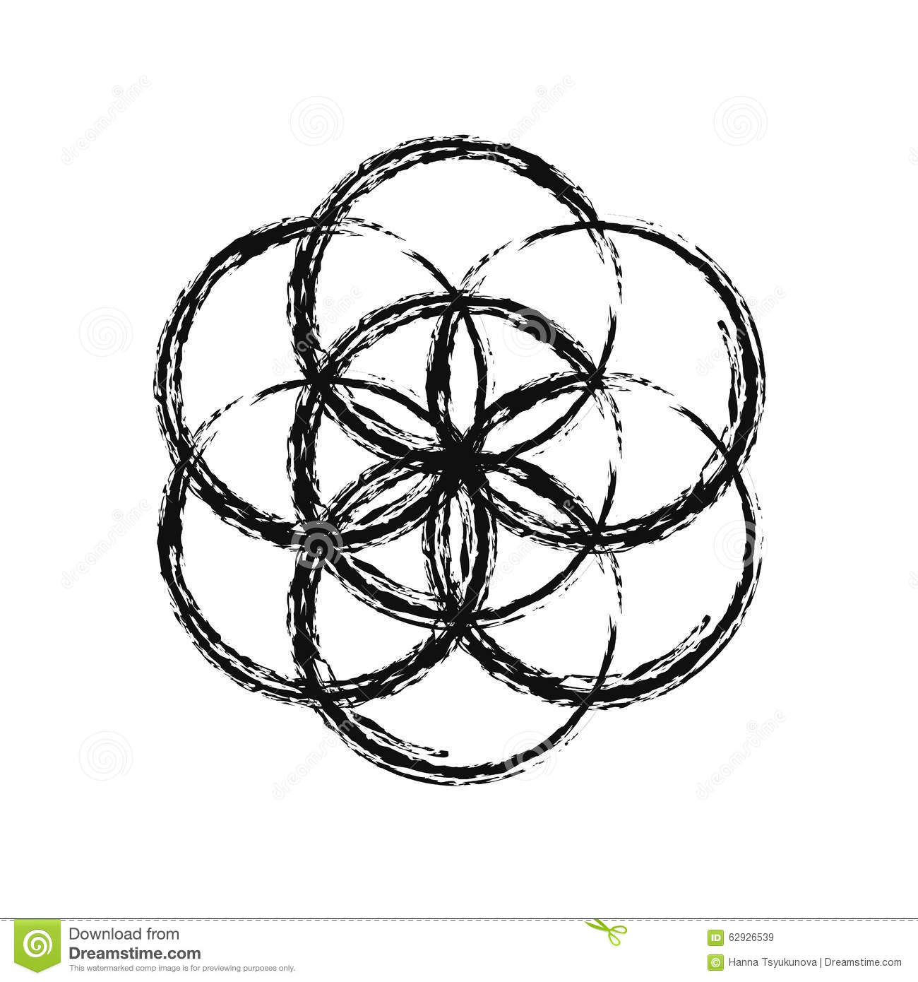 Flower Of Life, Vector. Stock Vector - Image: 62926539