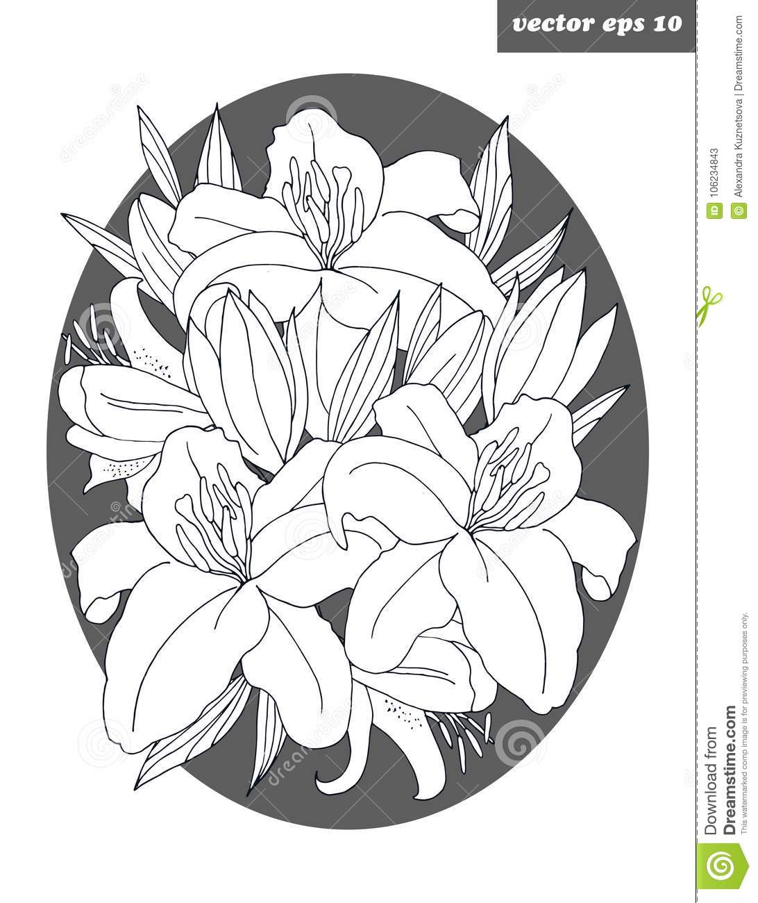 Flower lily stock illustration illustration of garden 106234843 lily flower poster or logo simple background for your designs print textile decoration poster wallpaper invitation flower shop card izmirmasajfo
