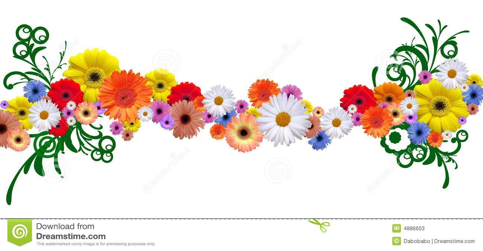 free clip art flower line - photo #21